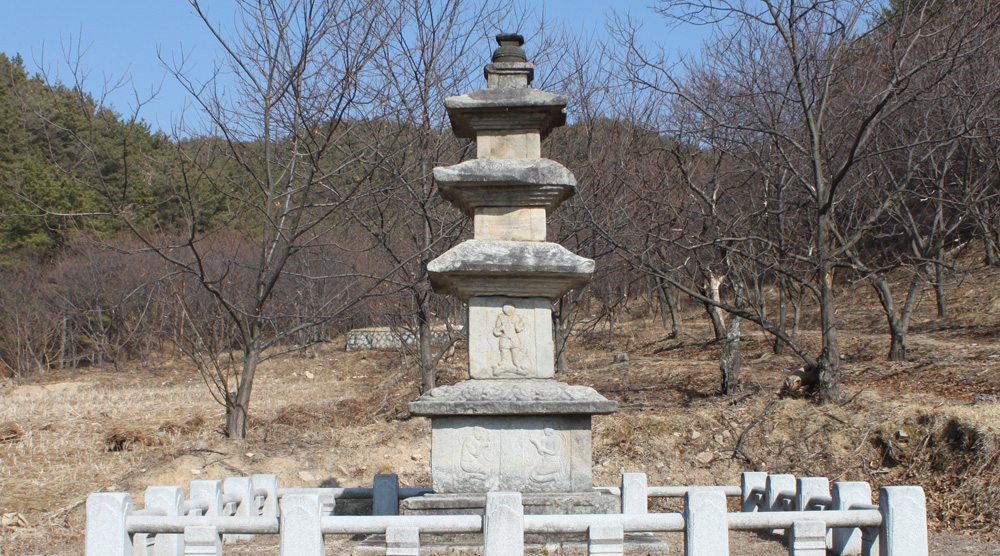 Three Storied Stone Pagoda of Seungansa Temple Site